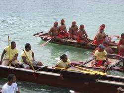 Das Team der Cook-Inseln (in rot)