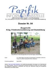 Bougainville- Krieg, Friedenskonsolidierung und Staatsbildung