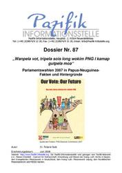 Parlamentswahlen 2007 in Papua-Neuguinea- Fakten und Hintergründe