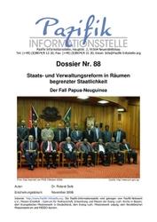 Staats- und Verwaltungsreform in Räumen begrenzter Staatlichkeit: Der Fall Papua-Neuguinea