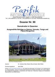 Demokratie in Ozeanien- Ausgewählte Beiträge zu Samoa, Vanuatu, Tonga und Papua-Neuguinea.