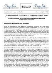 BLICKPUNKT: Lutheraner in Australien - so ferne und so nah
