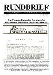 Rundbrief Juni 2015 (Nr. 100)