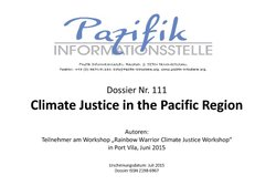 Climate Justice in the Pacific Region