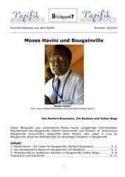 Moses Havini und Bougainville