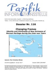 Changing Frames Identity and Citizenship of New Guineans of German Heritage during the Inter-war Years