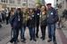 Einige Mitglieder der Hamburger Pazifikgruppe bei der Großdemo