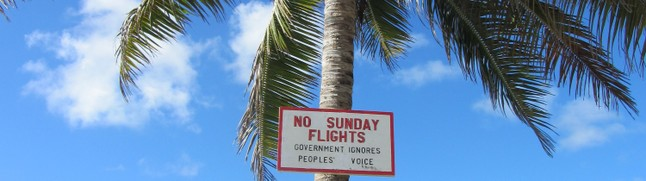 Flug-Schild Cookinseln