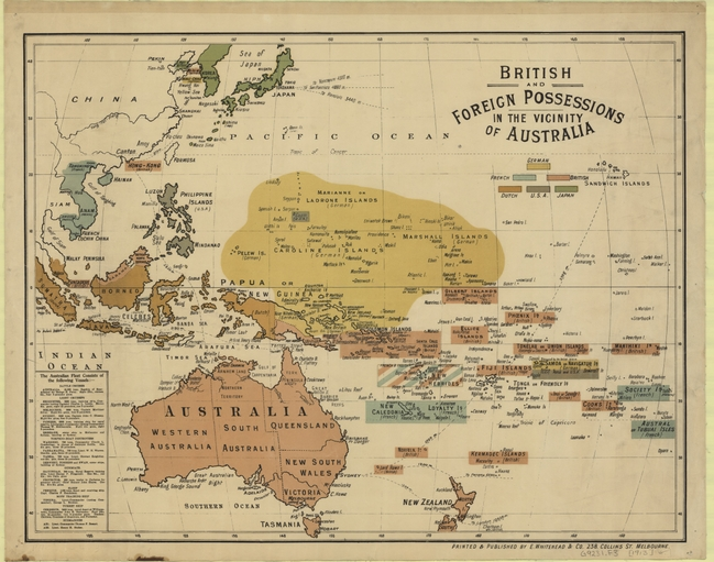 Foreign Possesions 1913 in Oceania