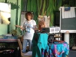 Îngrid Schilsky bei ihrem Vortrag