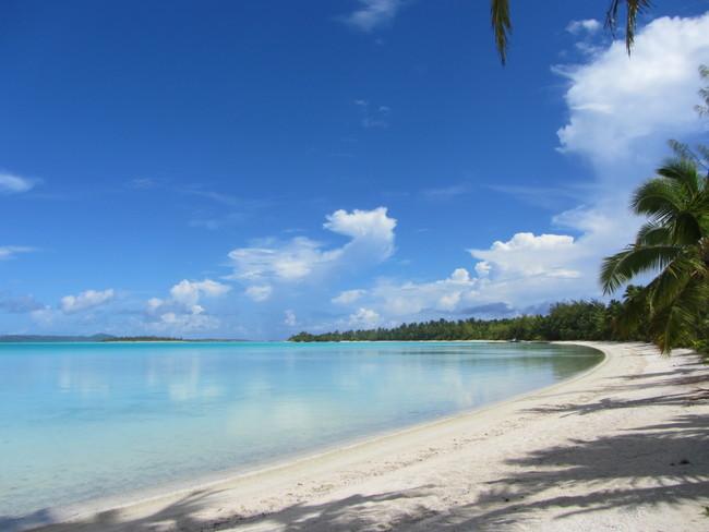 Strand auf Aitutaki
